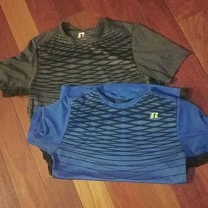 Russell set of 2 youth lg t-shirts dri fit 360